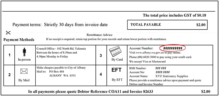 debtor invoice
